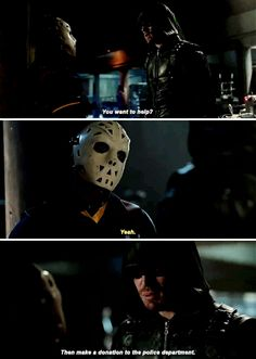 Arrow 5x01 - I thought I told you to stay off the streets. It's my city too.