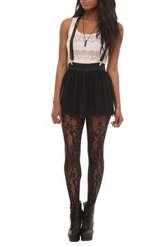 abbey dawn black suspender skirt $18.38   Hot Topic