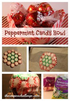 These Peppermint Candy Crafts will be perfect for serving goodies during a Holiday event. Kids will love getting involved learning how to make a Peppermint Candy Bowl & Tree. Homemade Ornaments, Homemade Christmas, Diy Christmas Gifts, Homemade Gifts, Santa Gifts, Christmas Recipes, Christmas Cookies, Easy Crafts For Kids, Gifts For Kids