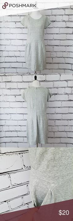 GAP Sweatshirt Dress with Pockets! Soft cotton sweatshirt material dress. Large front pockets. Zipper down the back. Length is about 38 inches and armpit to armpit is about 19 inches. Great condition! GAP Dresses