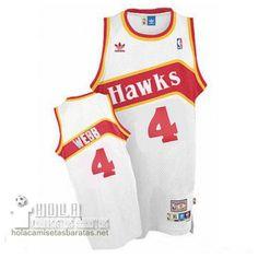 Camisetas Nba Baratas Retro Swingman Webb #4 Blanco Atlanta Hawks €23.9