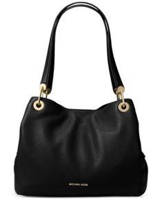 19de30517d Michael Kors Raven Pebble Leather Tote   Reviews - Handbags   Accessories -  Macy s