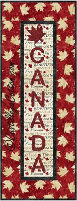 Canada Panel Quilt Pattern