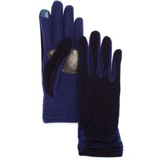 Echo Classic Velvet Tech Gloves (2.445 RUB) ❤ liked on Polyvore featuring accessories, gloves, maritime navy, echo gloves, navy gloves, palm gloves, navy blue gloves and velvet glove