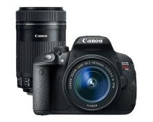 Canon EOS Rebel T5i 18.0MP DSLR Camera with 18-55mm Lens & Extra 55-250mm Lens - Larger Front