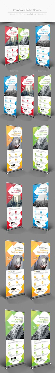 Corporate Rollup Banner by Fully layered Adobe Photoshop 4 color variation 4 Psd File CMYK Color Mode 300 DPI Resolution Size Signage Design, Banner Design, Flyer Design, Rollup Banner, Creative Banners, Creative Design, Banner Template, Digital Signage Displays, Roll Up Design