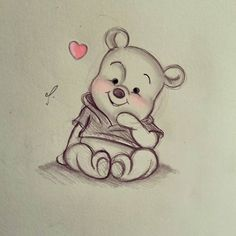 Disney Art~ Winnie the Pooh! - Disney Art~ Winnie the Pooh! You are in the right place about Disney Art~ Winnie the Pooh! Disney Drawings Sketches, Cute Disney Drawings, Art Drawings Sketches Simple, Cute Animal Drawings, Cartoon Drawings, Cartoon Art, Easy Drawings, Disney Pencil Drawings, Random Drawings