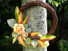 Unusual fall wreath Italian fall wreath decorated by Ghirlandiamo