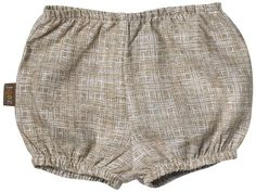 Brown Crosshatch Diaper Cover made from Eco Certified Linen.  $21 from www.mybabypeanut.com.