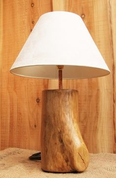 Unique wood Lamp Base Made From Mountain Ash by NewPurposeDesign