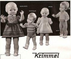1955 Krimmel Strickwaren und Schildkröt Puppen | Flickr - Photo Sharing!
