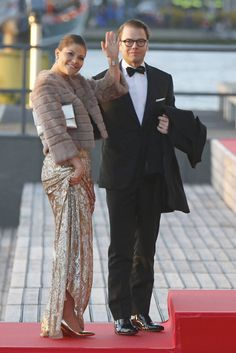 Crown Princess Victoria looking STUNNING with her husband Prince Daniel at post inaugural festivites in the Netherlands 4/30/2013
