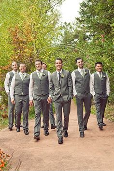 Wedding Photos hans faden winery - napa wedding - wedding chicks - Carlie Statsky Photography - groomsman looks - Hans Fahden Wine Cellar Wedding photographed by Carly Statsky Photography Groomsmen Vest, Groomsmen Looks, Bridesmaids And Groomsmen, Groomsman Attire, Groomsmen Outfits, Gray Groomsmen Suits, Groomsmen Wedding Photos, Rustic Wedding Groomsmen, Groom Attire