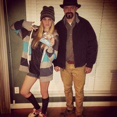 Pin for Later: 50 Last-Minute Couples Costumes That Require Little to No Effort Walter and Jesse From Breaking Bad