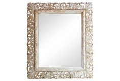 Carved Wood Rococo-Style Mirror