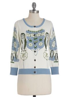 Barn This Way Cardigan in White, #ModCloth I may have already pinned this.....