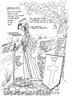 Armor Of God Coloring Pages . 30 Armor Of God Coloring Pages . Printable Armor Of God Coloring Pages – Navajosheet Scripture Study, Bible Art, Kids Bible, Religion, Armor Of God, Spiritual Warfare, Spiritual Armor, Bible Crafts, Kids Church