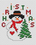 Christmas Snowman pattern Cute snowman holding a Christmas tree and waiting for Christmas to come. • Published 18 days ago • 36×41 stitches • 4 colors