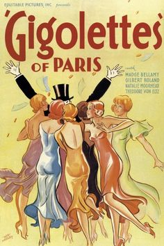 Hap Hadley - Gigolettes of Paris, 1929 - art prints and posters