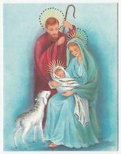 Vintage Greeting Card Christmas Nativity Madonna & Child Holy Family