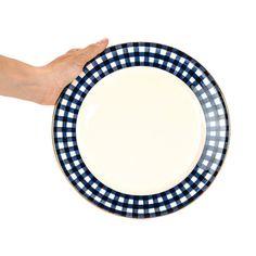 Dinner Plate Gingham Navy