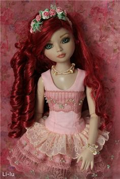 Изображение.  Not sure what that word says.  Is it Russian? Anyway, this is a gorgeous doll.  I think it's a OOAK.