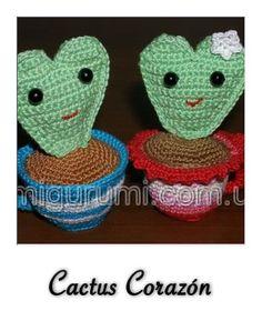 Patrón gratis cactus corazón