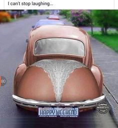 Flip through memes, gifs, and other funny images. Make your own images with our Meme Generator or Animated GIF Maker. Auto Volkswagen, Vw Cars, Buggy, Can't Stop Laughing, Vw Beetles, Beetle Bug, Happy Weekend, Hello Weekend, Happy Friday