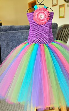 Custom you chose colors size 4-8 tutu dress
