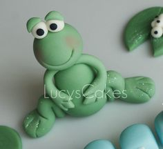Frog cake topper by www.lucys-cakes.com, via Flickr