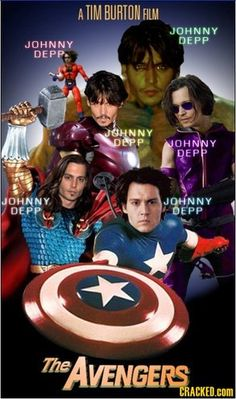 Ok, I love Johnny Depp and Tim Burton and the Avengers, but this was just HILARIOUS!!!  LOL
