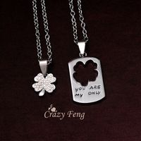 Venta al por mayor colgante de acero inoxidable 316L collares collares de la joyería para hombres mujeres amantes amores del envío gratis