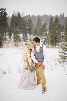 Winter wedding romance | Benj Haisch Photography