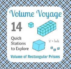 """Want to make volume questions fun and keep your student active?  Well let your students """"voyage"""" around the room as part of the Volume Voyage activity!Just cut out these 14 volume problems, and post them around the perimeter of your classroom. Place one or two students at each station."""