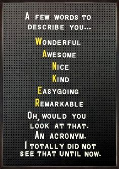 Funny and rude! card by Brainbox Candy A few words to describe you . Wonderful Awesome Nice Kind Easygoing Remarkable Oh, would you look at that. Funny Rude Jokes, Funny Test, Sarcastic Humor, You Funny, Funny Quotes, Funny Pics, Funny Stuff, Hilarious, Sarcasm