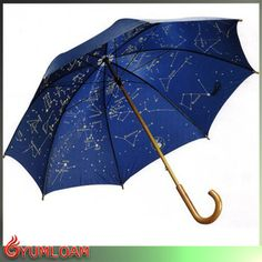 wooden straight constellation umbrella