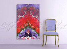 Check out 48inch, Abstract Painting, Pink Art, Large Print, Purple Painting, Floral Art, Lilac, Silver, Lavender, Violet, Wall Art, Purple Home Decor on juliaapostolova