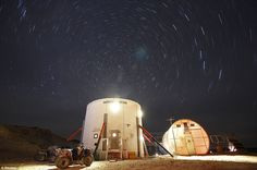 Starscape: A view of the night sky above the Mars Desert Research Station