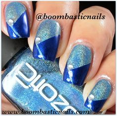 Pinned by www.SimpleNailArtTips.com TAPING NAIL ART DESIGN IDEAS - Boombastic Nails: Blue Mani for the Autism Awareness Month