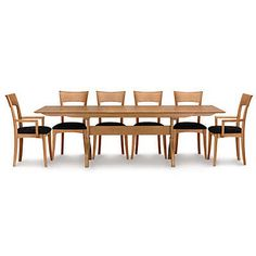 Copeland Furniture : Natural Hardwood Furniture From Vermont : Audrey  Extension Tables With Easystow Extension And Leaf Storage In Walnut   Audrey  U2026