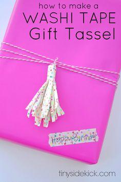 Washi Tape Art for Gift Wrap | http://diyready.com/100-creative-ways-to-use-washi-tape/