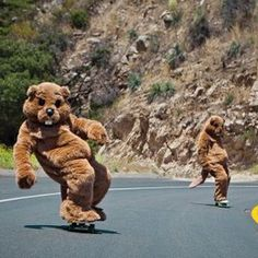 Longboarding chipmunks...or beavers?