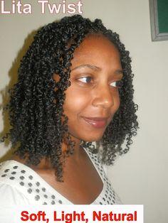 Lita Twists Using Afro Coil Or Spring Twist Hair Bomb Twists