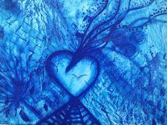 Foudre Bleu  Acrylique sur toile 50 x 62 cm Septembre 2007