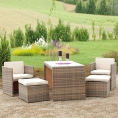 Inspirational Kompaktes Lounge Set f r Terrasse und Garten Wasserfest