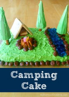 Recently, the girls have been looking through our Chatbooks, and my middle daughter saw this Camping Cake I made for her 3rd birthday.  She decided she wanted me to make it again for her 9th birthday, and I was great with that…because I already knew how to do it!!  I did scale this version of …