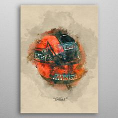 Villeneuve's Helmet by Abraham Szomor | metal posters - Displate