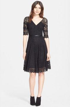 Rebecca Taylor Lace Fit & Flare Dress available at #Nordstrom