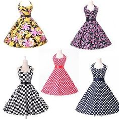 Michelle - Pink Roses ............ .Caitlin - Checkerboard .....Vintage Retro 1950s 60s Polka Dots swing Pinup Rockabilly Housewife Party Dress eBay TALK: Get ans
