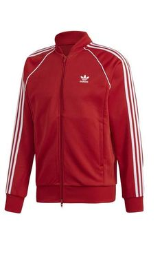 New Adidas Originals Mens Superstar Red Track Jacket Size XL UltraBoost Chef Shoes, Adidas Trefoil Hoodie, Amazon Clothes, Mens Walking Shoes, Adidas Fashion, Adidas Originals Mens, Jacket Pattern, Jackets Online, Mens Sweatshirts